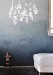 Adesivo murale piume boho