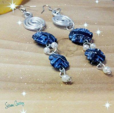 Orecchini a lobo,orecchini alluminio,orecchini artigianali-orecchini riciclati-gioielli carta-orecchini donna,intreccio wire