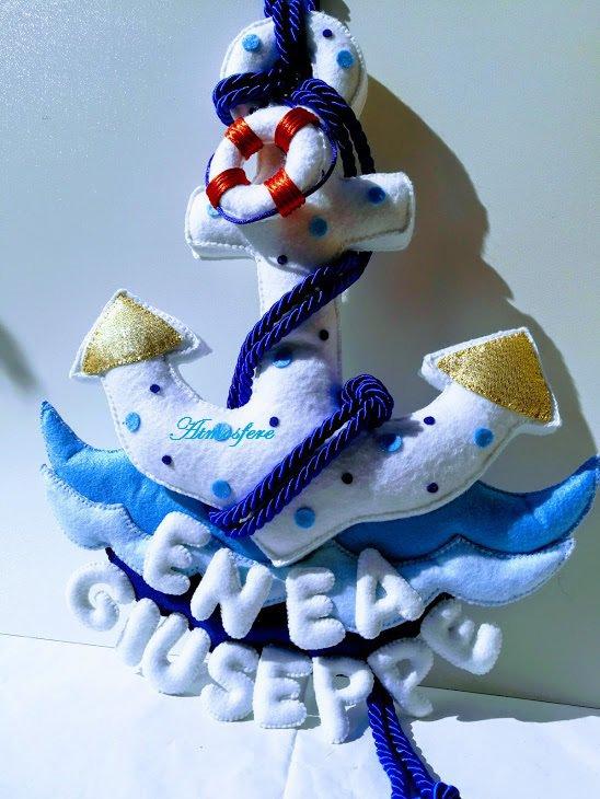 """Fiocco nascita """"marina"""""""