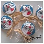 Biscotti decorati a tema Doraemon