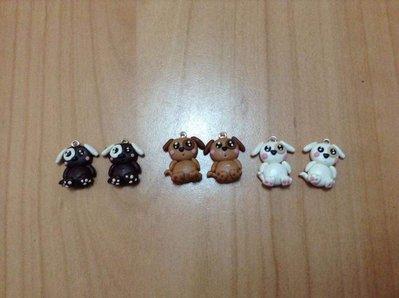 Pendenti ciondoli charm cani kawaii fimo 6 pezzi