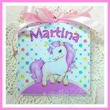Quadretto Calamita Unicorno Nascita 1°compleanno c.confetti