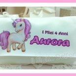 Sacchettino stampato unicorno personalizzato c.confetti