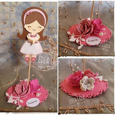 Segnaposto Bomboniera bambolina rosa