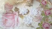 Centrino 3,5 cm. bianco pvc decorazione, per creare set miniature bigiotteria accessori abbellimenti