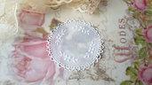 Centrino 7 cm. bianco  pvc decorazione, per creare set miniature bigiotteria