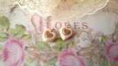 Ciondolo cuore avorio dorato pendente minuteria materiale per creare bigiotteria accessori bomboniere