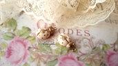 Ciondolo coccinella avorio dorato pendente minuteria materiale per creare bigiotteria accessori bomboniere