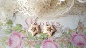 Ciondolo stella avorio dorato pendente minuteria materiale per creare bigiotteria accessori bomboniere