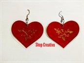 Orecchini cuore rosso San Valentino