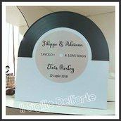 Segna Tavoli Wedding Matrimonio a tema Disco musica