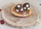 orecchini pan di stelle in fimo