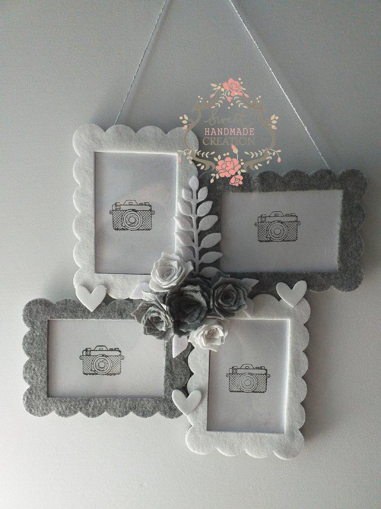 Portafoto White & Grey