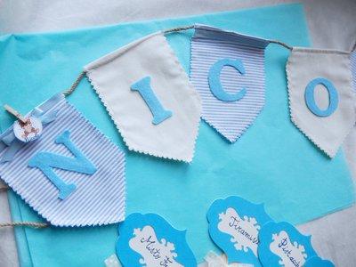 Banner bandierine di stoffa con nome bambino