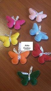 Farfalle calamita o portachiavi compleanno nascita bomboniere confetti tulle