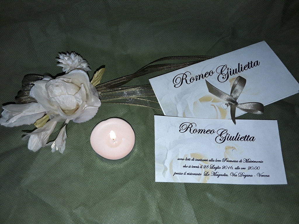 2d319f0f275e Invito promessa di matrimonio - Feste - Matrimonio - di Domus Art ...