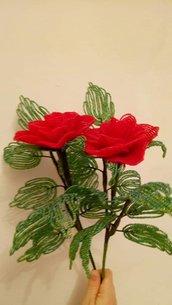 Rose di perline fiori di perline fiori finti