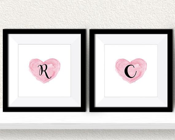 Due cornici con lettere personalizzate