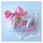 Confettata per prima comunione, rose,   rosa antico