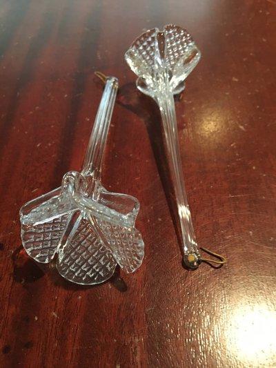 Fiore pendente, ricambi per lampadari di in vetro soffiato di Murano, color trasparente
