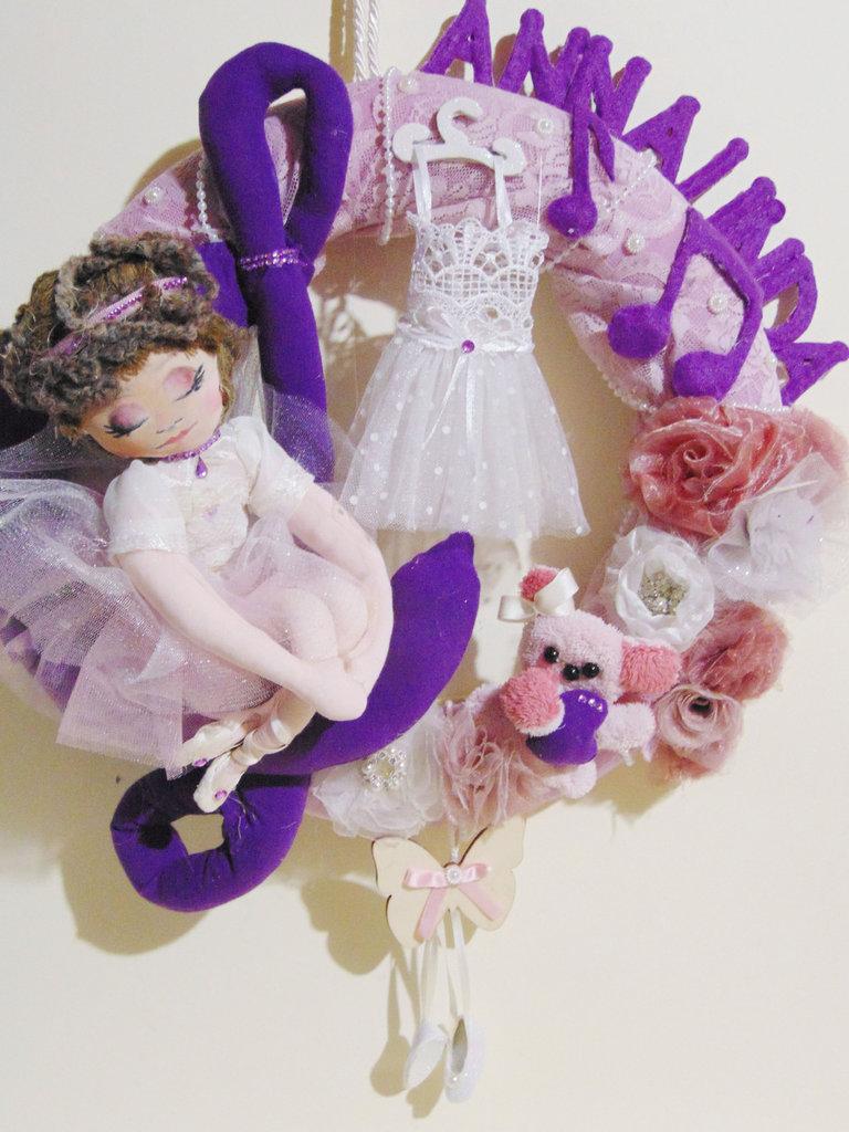 Ghirlanda personalizzata su tema ballerina