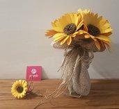 Bouquet Girasoli carta Sposa