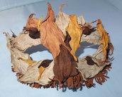 Maschera per carnevale fatta di vera pelle