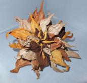 Fiore di vera pelle colori autunnali per maschera per carnevale