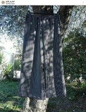 Black&White Bellissimo Pantapalazzo gessato