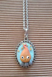 Collana Calcifer Studio Ghibli Fimo