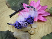 Purple and Lilac zipper Hairband - cerchietto