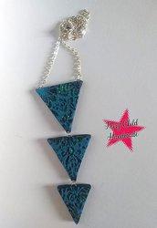 """Collana girocollo """"triangoli azzurri"""""""