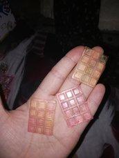 barrette cioccolata in resina