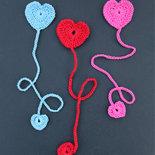 Segnalibro cuore in cotone all'uncinetto – idea regalo - San Valentino - amore - amicizia