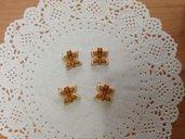 Ciondoli pendenti charm farfalla fimo LOTTO 5 pezzi