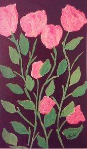 Rose quadro acrilico