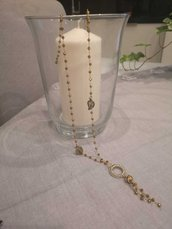 Collana con catena rosario Bronzo