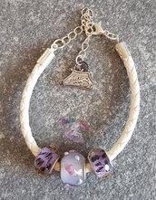 bracciale cordoncino e perle