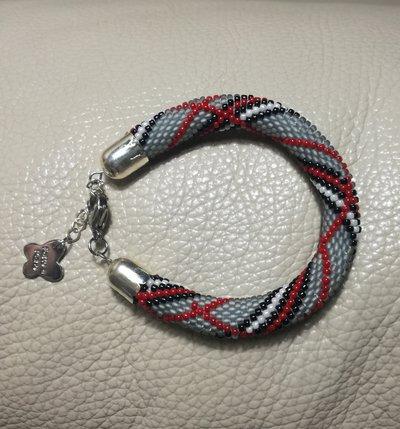 Bracciale di perline bead crochet