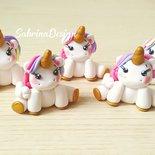 Bomboniera unicorno in fimo confettata nascita battesimo comunione compleanno