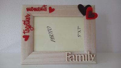 Cornice portafoto 10x15 bombata FAMILY parole
