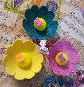 segnaposto fiore in gomma crepla