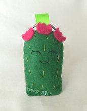 Cactus, cactus portachiavi, bomboniera battesimo, portachiavi feltro, bomboniera nascita, bomboniera comunione, cactus fiori, fiori