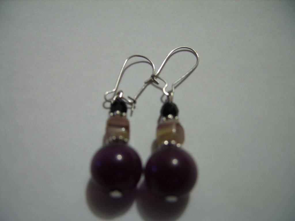 orecchini  viola scuro