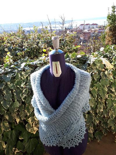 maxi sciarpa-stola maglia uncinetto