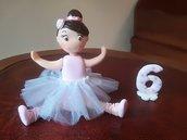 Cake Topper per compleanno in fimo ballerina danza classica