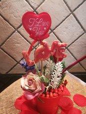Centrotavola per San Valentino