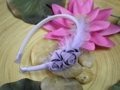Lilac zipper Hairband - cerchietto