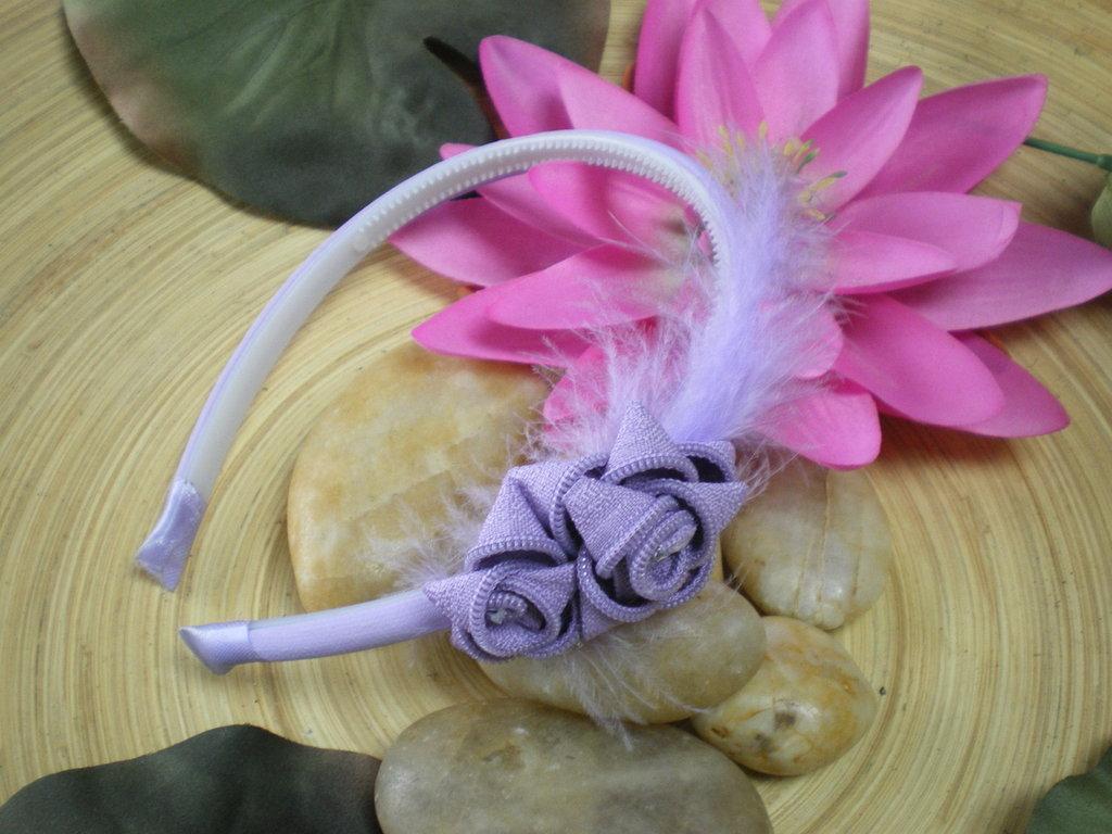 Lilac zipper Hairband - cerchietto