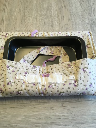 Porta torta porta teglia floreale lilla